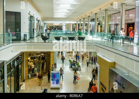 October 5, 2018 San Jose / CA / USA - People shopping at Westfield Valley Fair Mall - Stock Photo