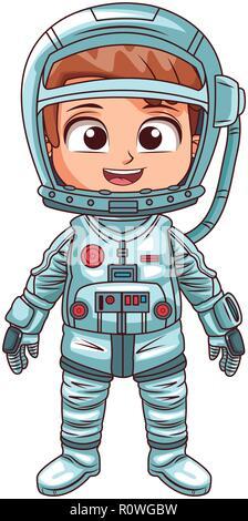 Astronaut boy cartoon - Stock Photo