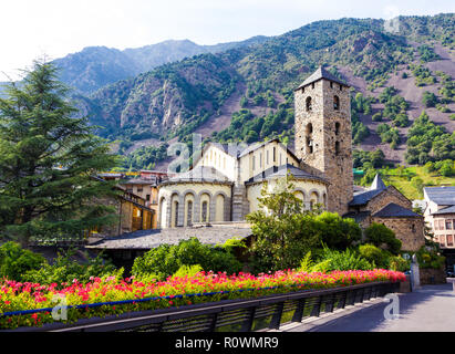 Sant Esteve church located in Andorra la Vella, Andorra - Stock Photo