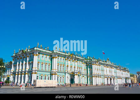 Winter Palace, houses State Hermitage Museum, Palace Square, Saint Petersburg, Russia - Stock Photo