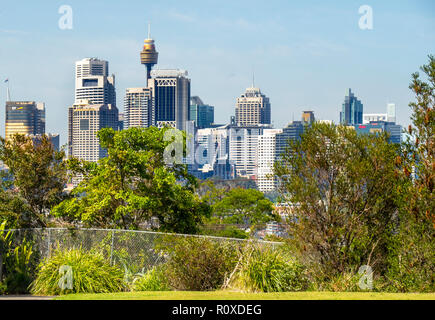 Sydney skyline seen from vantage point Waverton Sydney NSW Australia. - Stock Photo