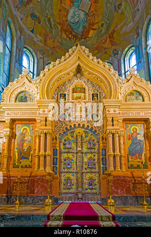 Church Of The Spilled Blood St Petersburg Russia St saint Petersburg, Russian Sankt Peterburg, formerly (1914–24) Petrograd and (1924–91) Leningrad, c - Stock Photo