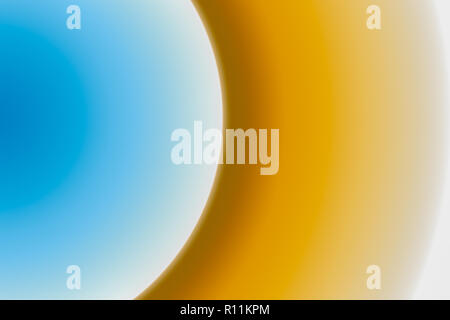 Part of the circle is a multi-colored gradient. Blue yellow. - Stock Photo