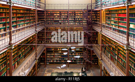 AMSTERDAM - SEP 27, 2014: View of the Rijksmuseum Research Library, the largest public art history research library in The Netherlands. - Stock Photo