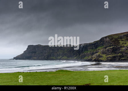 Breathtaking Scottish landscapes in autumn - beautiful moody images from most iconic locations on the Isle of Skye - popular tourist destination - Stock Photo