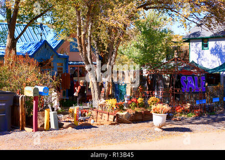 Heaven Boutique store on Highway NM-14 in downtown Madrid, New Mexico - Stock Photo