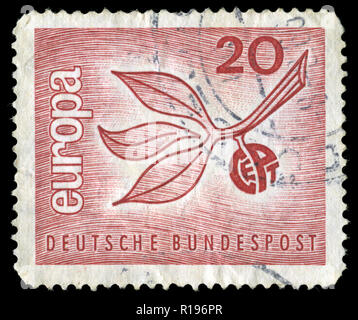 Postmarked stamp from the Federal Republic of Germany in the Europa (C.E.P.T.) 1965 - Fruit series - Stock Photo
