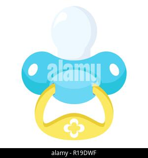 Baby pacifier isolated on white background. Vector illustration - Stock Photo