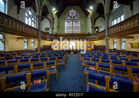 OXFORD, ENGLAND – MAY 15, 2009: The interior of Wesley Memorial Church, the methodist church in central Oxford. Oxford University. England. - Stock Photo
