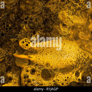 Liquid gold like grunge texture for your design - Stock Photo