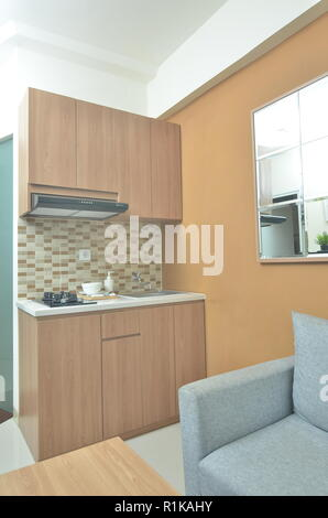 Kitchen set, at small apartement - Stock Photo