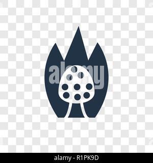 Burning Bush vector icon isolated on transparent background, Burning Bush transparency logo concept - Stock Photo