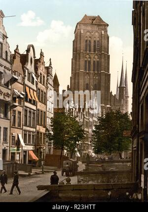 Jopengasse, Danzig, West Prussia, Germany (Gdansk, Poland) 1890 - Stock Photo
