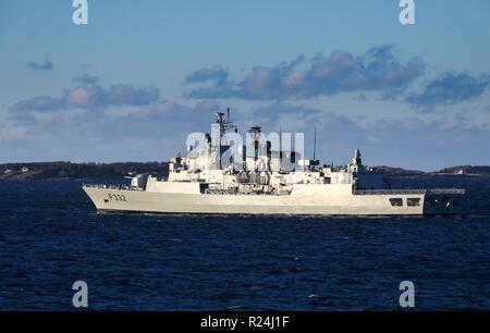 The Portuguese MEKO 200 frigate NRP Corte Real - Stock Photo