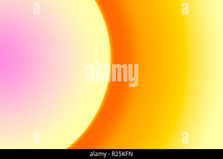Part of the circle is a multi-colored gradient. Pink yellow. - Stock Photo