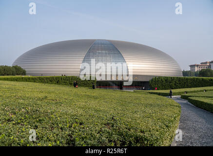 National Centre for Performing Arts in Beijing known as Egg building - Stock Photo