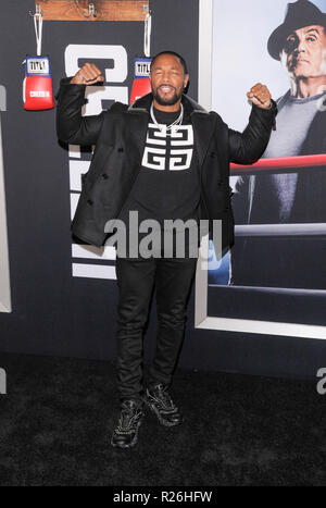New York, NY - November 14, 2018: Tank attends the Creed II New York Premiere at AMC Loews Lincoln Square - Stock Photo