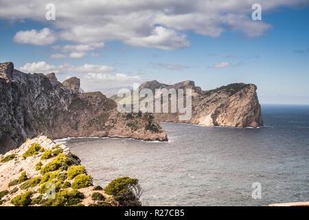 Cliff mountain on the coast - Stock Photo