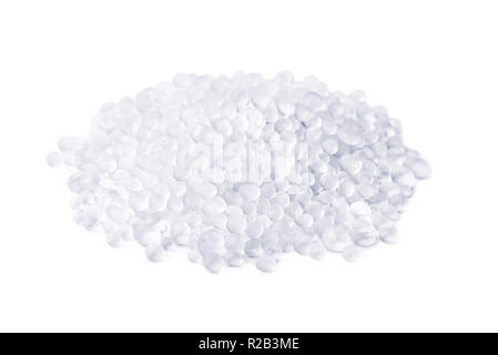 Pile of silica gel granules isolated on white - Stock Photo