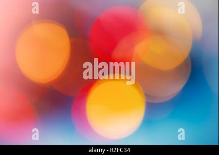 abstract defocused spots Christmas lighting. Blurred color background. For design. - Stock Photo