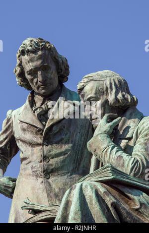 Denkmal der Brüder Grimm in Hanau - Stock Photo