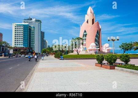 Nha Trang city center urban skyline view in south Vietnam - Stock Photo
