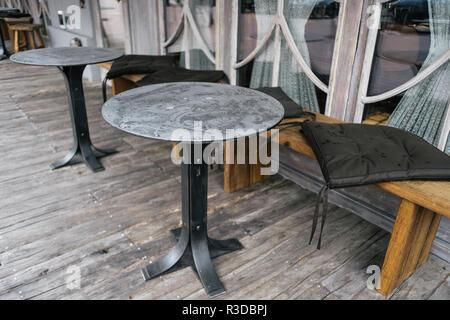 Great restaurant furniture design in modern grunge style - Stock Photo