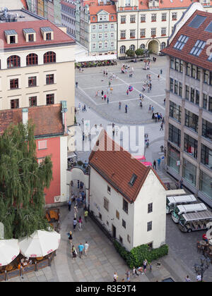 WROCLAW, POLAND - AUGUST 14, 2017: View of Rynek Market Square In Wroclaw - Stock Photo
