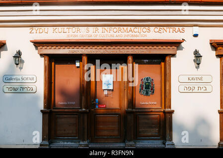 Jewish Center of Culture and Information. Vilnius, Vilnius County, Lithuania, Baltic states, Europe. - Stock Photo