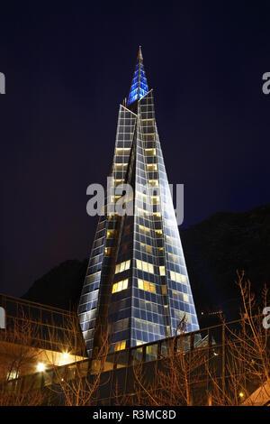 Caldea in Escaldes-Engordany. Andorra - Stock Photo