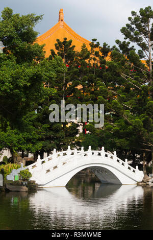 Bridge and National Theater in Liberty Square (also Freedom Square) garden, Taipei, Taiwan - Stock Photo