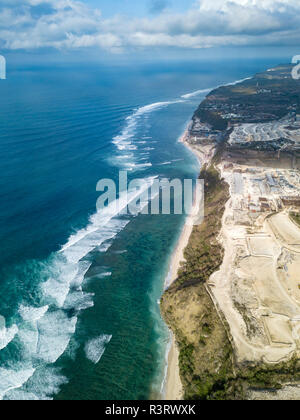 Indonesia, Bali, Aerial view of Payung beach - Stock Photo
