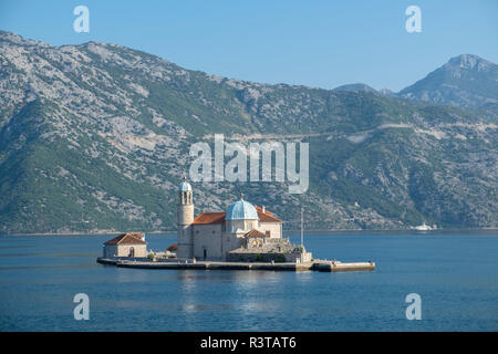 Gospa Od Skrpjela, Church of Our Lady of the Rocks, Bay of Kotor, Montenegro - Stock Photo