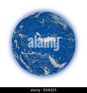 Pacific Ocean on planet Earth - Stock Photo