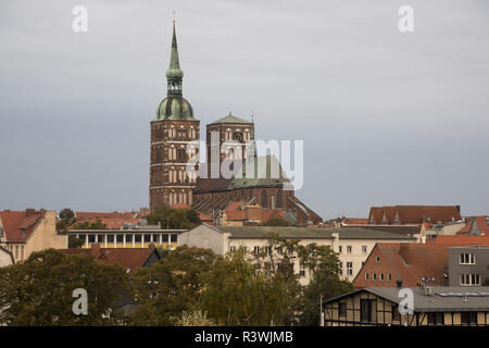 Stralsund is a Hanseatic town in Mecklenbug-Vorpommern in  Germany with some famous churches. - Stock Photo