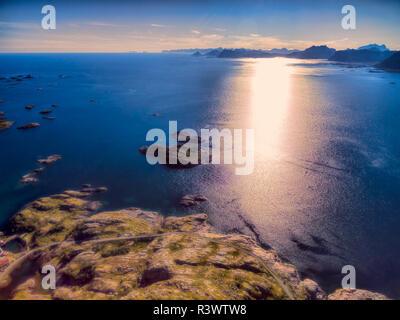 Sunset on Lofoten - Stock Photo