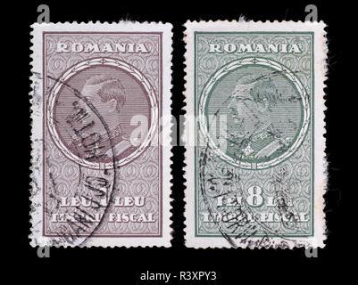 Romania - circa 1930: A postage stamps printed in the Romanian shows image King Carol II series, circa 1930. - Stock Photo
