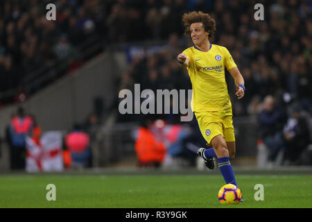 London, UK. 24th Nov 2018. David Luiz of Chelsea - Tottenham Hotspur v Chelsea, Premier League, Wembley Stadium, London (Wembley) - 24th November 2018  Editorial Use Only - DataCo restrictions apply Credit: MatchDay Images Limited/Alamy Live News - Stock Photo