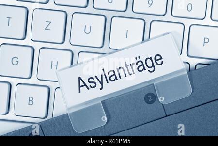 asylum applications - Stock Photo