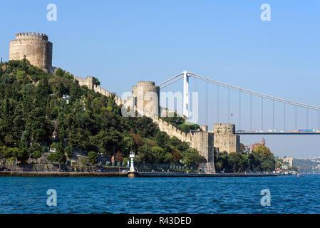 the ponderosa fortress on the bosporus in istanbul,turkey - Stock Photo
