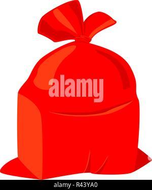 Colorful cartoon Santa sack - Stock Photo