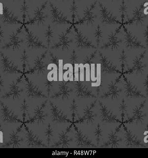 Abstract geometric background, seamless delicate star pattern silver gray black blurred - Stock Photo