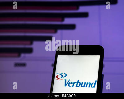 Kiev, Ukraine. 26th Nov, 2018. Verbund Company logo seen displayed on smart phone. Credit: Igor Golovniov/SOPA Images/ZUMA Wire/Alamy Live News - Stock Photo