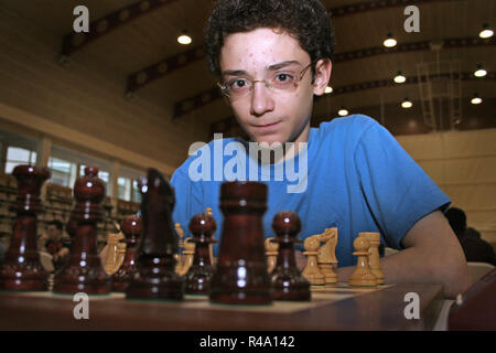 FILE PICS: Fabiano Caruana who plays in the London World Chess Championship 2018. Portrait of Fabiano Caruana taken in July 13 2006, while playing Andorra Chess Open 2006 (Andorra la Vella, Andorra). Born July 30 1992, he was 13 years, 11 months and 13 days old. One year later (at the age of 14 years, 11 months and 20 days), he became the youngest grandmaster in the history of both Italy and the United States at the time. Credit: Joan Pla Vivoles/Alamy Live News - Stock Photo