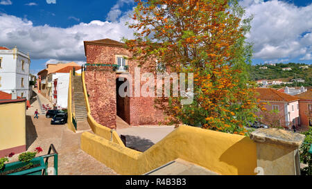Center and historic  town gate in Silves, Algarve - Stock Photo