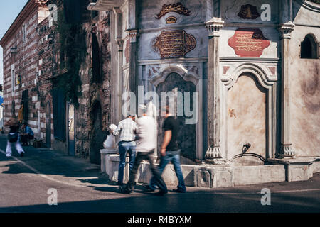 ISTANBUL, TURKEY - AUG 10, 2008: Sineperver Valide Sultan fountain in Uskudar, Istanbul - Stock Photo