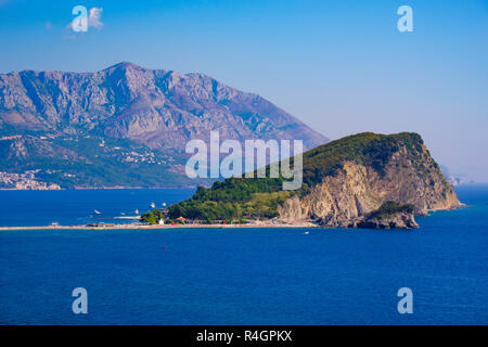 Island Sveti Nikola, Budva, Adriatic coast, Montenegro - Stock Photo