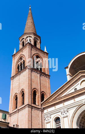 bellt ower of Basilica of Sant'Andrea in Mantua - Stock Photo
