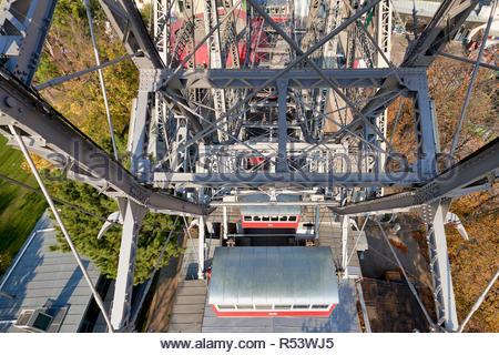 Riesenrad Panoramic Wheel. Prater Park. The oldest ferris wheel in the World. Vienna Austria - Stock Photo