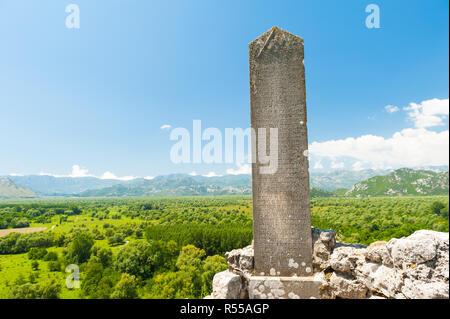 Memorial to Kenjo Janković and Ceklin rebels in Žabljak Crnojevića, Montenegro - Stock Photo